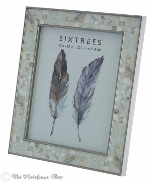 Sixtrees Julietta 2 688 80 Polished Silver Photo Frame With Tortoiseshell Mosaic Effect Insert For A 10 X 8 Inch 254mm X 203mm Picture Frame Mosaic Pictures