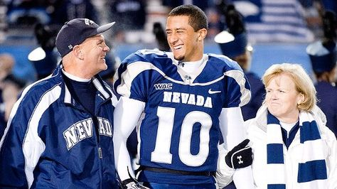 Colin Kaepernick in 2010. Links to a great article about Colin's adoptive parents, Rick and Teresa.
