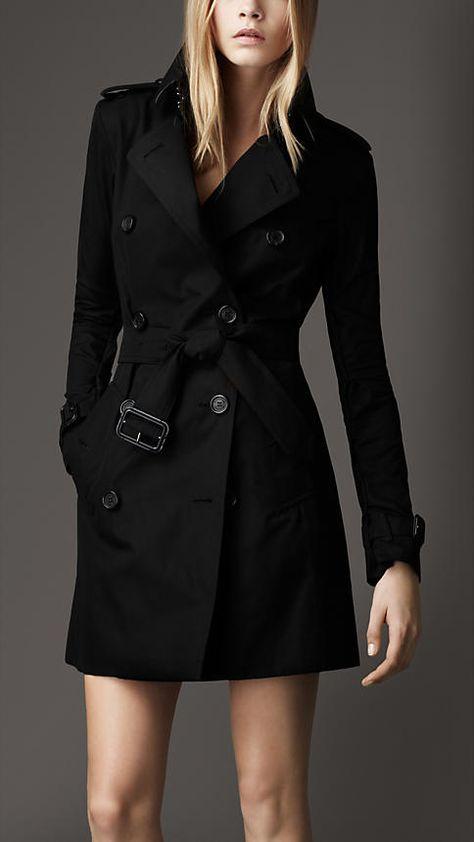 Trench-coat mi-long en gabardine de coton | Burberry