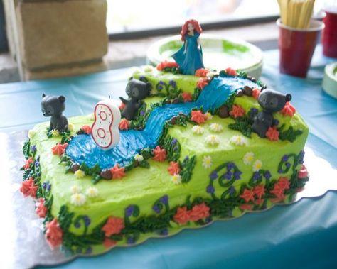 Merida birthday cake idea for Gabby's 7th birthday