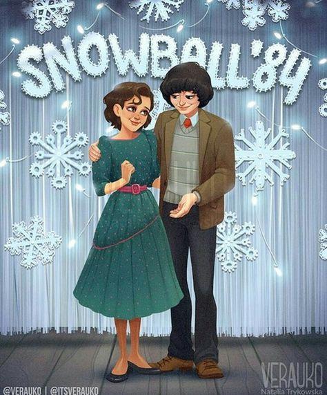 [♡] Snowball'84 - Mileven (Via Tumblr) ❄ on We Heart It