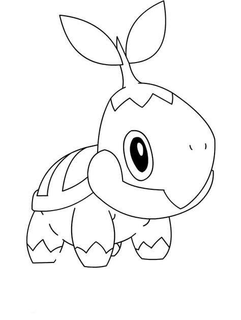 Pokemon Turtwig Coloring Pages Pokemon Coloring Pokemon