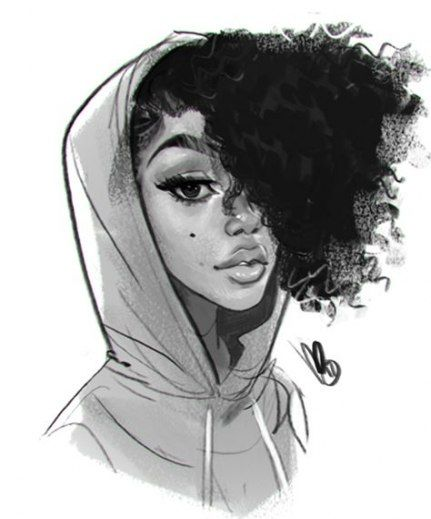 Hair Messy Drawing Character Design 35 Ideas Drawings Of Black Girls Afro Art Natural Hair Art