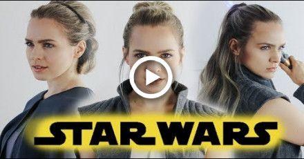 Star Wars The Last Jedi Hairstyles Tutorial Rey General Leia Kayleymelissa Star Wars Hair Rey Hair Star Wars Hair Tutorial