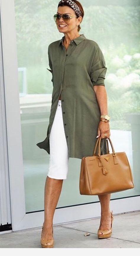 Passou dos 50? Veja 50 looks com camisas femininas | Blog da Mari Calegari