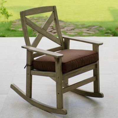 outdoor cambridge casual west lake patio rocking chair with