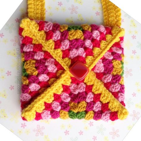 Tadah Crochet Envelope Clutch Free Tutorial Crafternoontreats