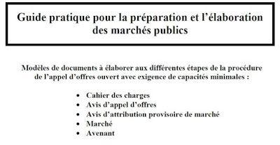 Livre Guide Pratique Pour La Preparation Et L Elaboration Des Marches Publics Guide Pratique Marches Publics Public