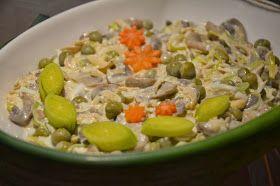 Apetyczna Babeczka Anielska Kuchnia Salatka Z Pieczarek I Pora Food Rice Grains