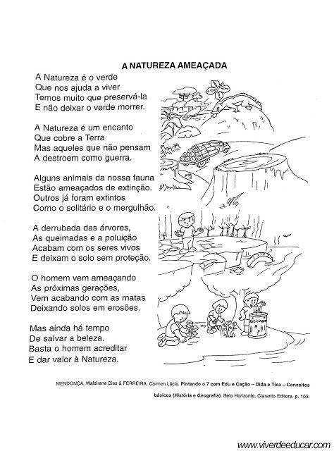 Atividades Sobre Os Tipos De Paisagens Educacao Infantil Poema