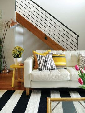 Black And White Striped Rug Design Ideas, Pictures, Remodel and Decor