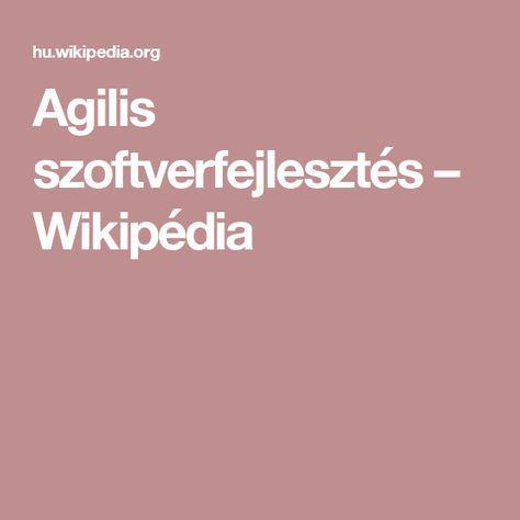 Agilis szoftverfejlesztés – Wikipédia