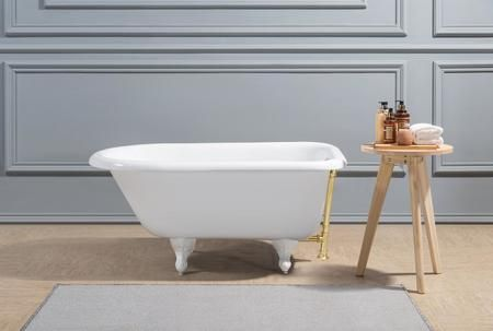 R5101wh Gld 48 Oval Shaped Soaking Clawfoot Tub With 25 Gallons