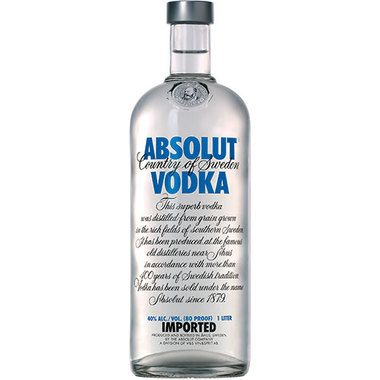 Absolut Vodka Is Made Exclusively From Natural Ingredients And