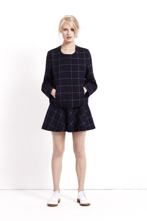#BestofBritish Pure New Wool Checked Flippy Mini Skirt #SS14