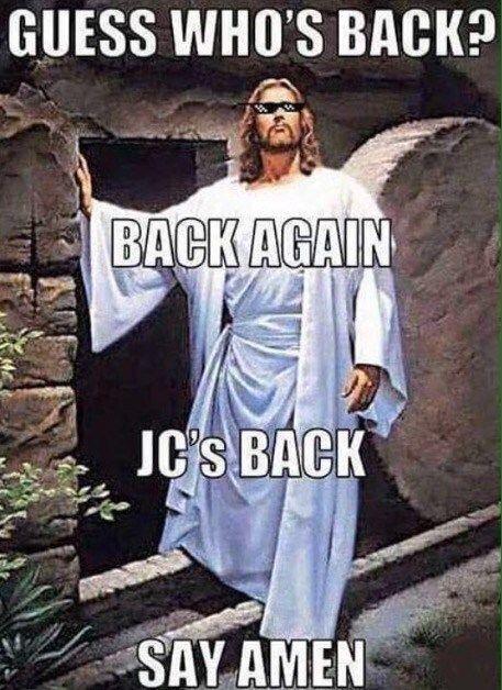 Pin By Jessica Copenhaver On Easter In 2020 Funny Christian Memes Christian Jokes Dark Humour Memes
