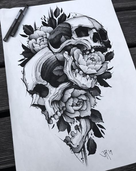 """Jakob Holst on Instagram: """"Been working unnecessarily long on this.. This is another huge one, A2. Hopefully worth the effort! This is up for tattooing at a really…"""""""