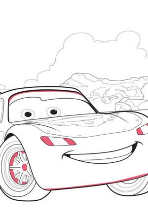 Lightning Mcqueen Scene Colouring Page Official Disney Cars