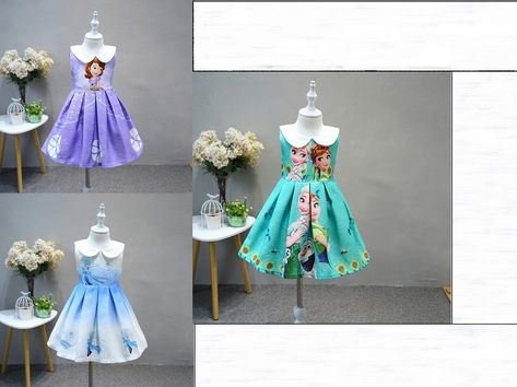 97cf97bc7844c Sofia the First Princess Dress Frozen Elsa Anna Summer Party Dress Kids  Clothes #fashion #