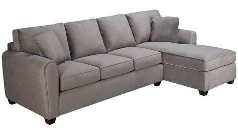 Bauhaus Microfiber 2 Piece Sectional Jordan S Furniture Sectional Furniture Living Room Furniture Sofas