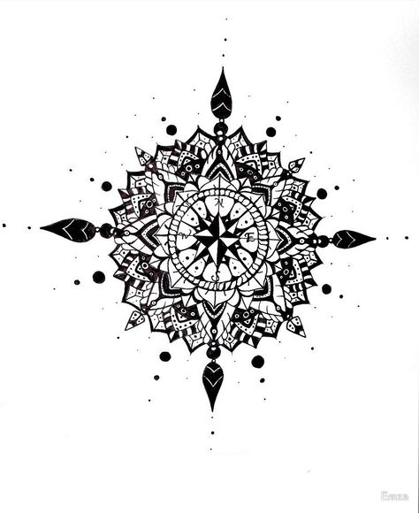 compass mandala by Emza                                                       …