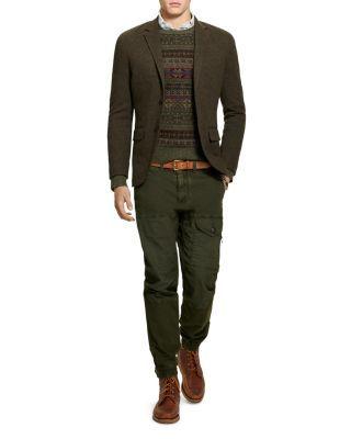 Polo Ralph Lauren Double Knit Cotton Wool Blazer Olive Blazer Blazers For Men Wool Blazer