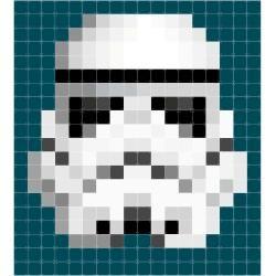 Star Wars Stormtrooper Pixel Bild In 2020 Karten Drucken Pflanzen Tattoo Power Trip