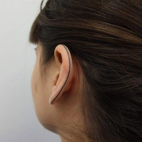A Single Line - Helix Ear Tattoos That Are So Much Better Than Piercings - Photos