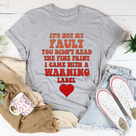 It's Not My Fault You Didn't Read The Fine Print Tee #tiredmom #boutique #whatiwear #wearingtoday #funnymoms #itsallgood #springstyle #women #igmoms #stylish