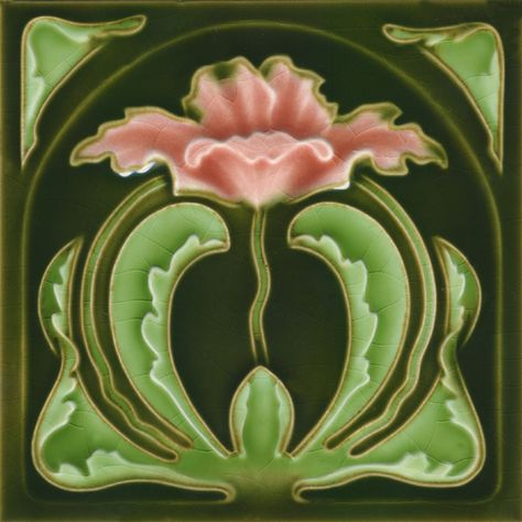 Golem Kunst- und Baukeramik GmbH | Art Nouveau tiles decorated | Art Nouveau tiles5 F72
