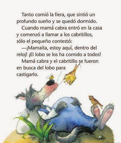 Cuentos Infantiles El Lobo Y Los Siete Cabritillos Cuento Infantil Imagenes De Cuentos Infantiles Cuentos Cortos Para Imprimir Cuentos Infantiles Para Leer
