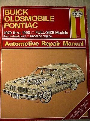 Advertisement Ebay Haynes Buick Oldsmobile Pontiac Repair Manual 1551 Rwd 1970 1990 Gas Engine Automotive Repair Oldsmobile Repair Manuals