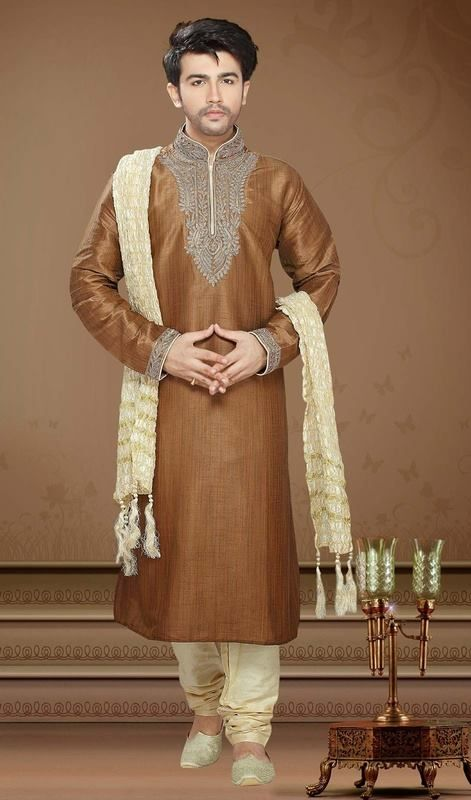 Latest Men Mehndi Kurta Designs 2018 In Pakistan