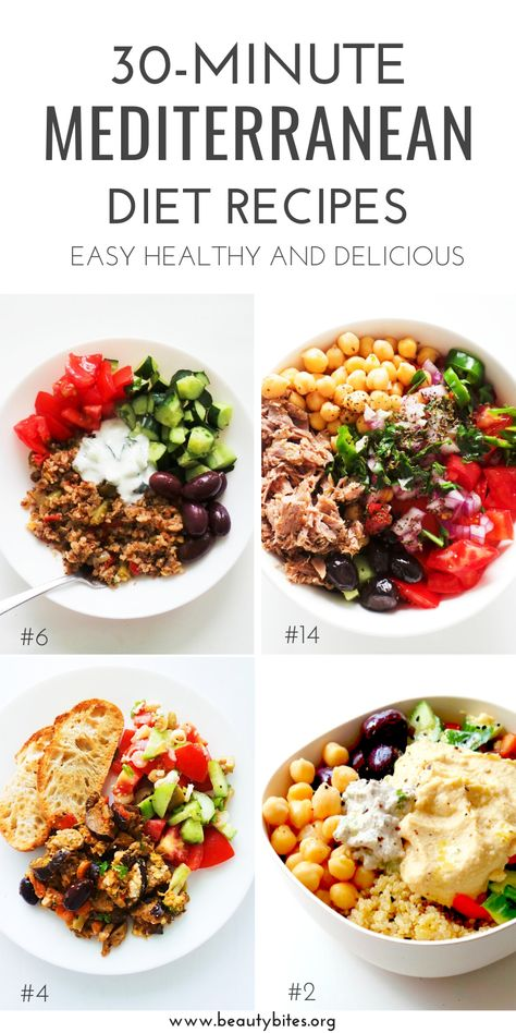 30 Mediterranean Diet Recipes That Take 30 Minutes Or Less – Beauty Bites 30 Mediterranean Diet Recipes That Take 30 Minutes Or Less – Beauty Bites,Delish! 30 Mediterranean Diet Recipes That Take 30 Minutes. Easy Mediterranean Diet Recipes, Mediterranean Dishes, What Is Mediterranean Diet, Mediterranean Diet Shopping List, Mediterranean Diet Breakfast, Diet And Nutrition, Fitness Nutrition, Easy Healthy Recipes, Easy Meals