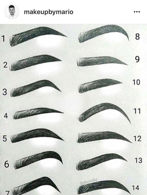 Eyebrow types, #Eyebrow #types