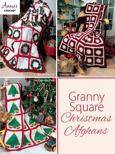 These Granny Square Christmas Afghans Would Make A Great Gift Crochet Pattern Christmas Affilia Christmas Afghan Granny Square Crochet Poncho Free Pattern