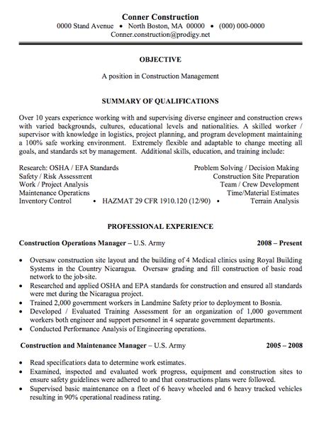 fleet operation manager - Operations Manager Sample Resume