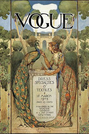 """Vintage Illustrations 11 Famous Artists Who Created Gorgeous """"Vogue"""" Covers - MOMA isn't the only institution to house famous works by Salvador Dalí and Andy Warhol. Illustration Art Nouveau, Illustration Mode, Magazine Illustration, Posters Vintage, Vintage Art, Vintage Prints, Art Deco Posters, Capas Vintage Da Vogue, Vintage Vogue Covers"""