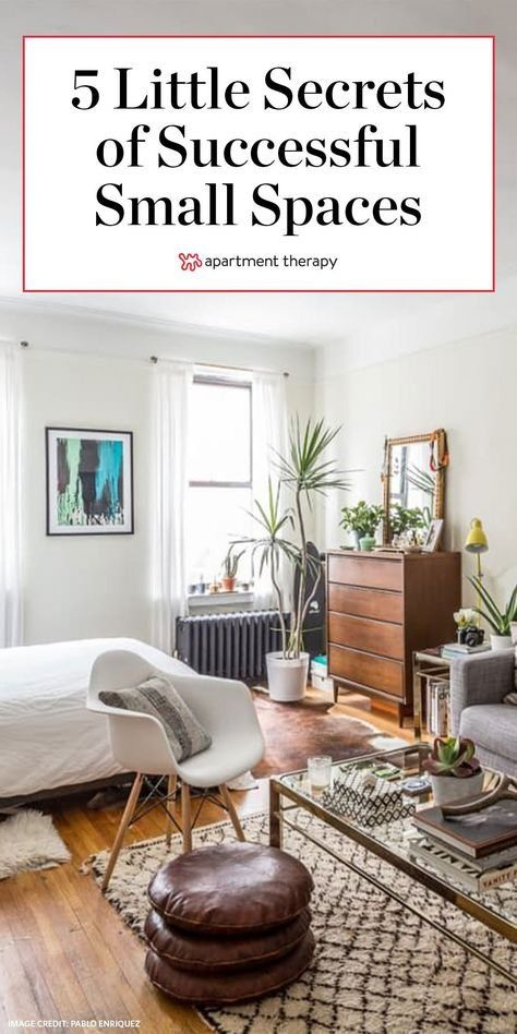5 Sneaky Little Secrets Of Successful Small Spaces Small Space Living Room Dining Room Design Small Small Living Room Decor