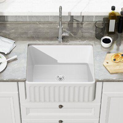 Deervalley 24 L X 18 W Farmhouse Kitchen Sink Farmhouse Sink Kitchen Apron Sink Kitchen Farmhouse Apron Kitchen Sinks