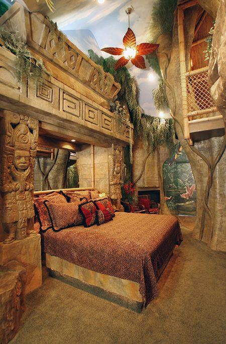 35 Unique And Crazy Bedroom Ideas Jungle Bedroom Cool Kids