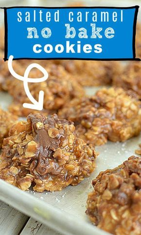 Healthy No Bake Cookies, Easy Cookie Recipes, No Bake Treats, Cookie Desserts, Yummy Cookies, Sweet Recipes, Baking Recipes, Dessert Recipes, No Bake Recipes