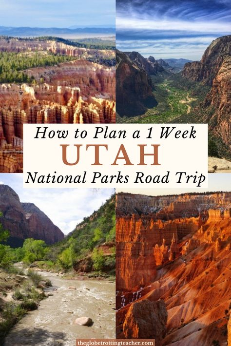 Utah National Parks Road Trip- Want to know how to plan a 1 Week Utah National Parks trip Itinerary? This guide is filled with tips and resources with everything you need for a successful Utah National Park trip to Arches, Canyonlands, Bryce, and Zion! Road Trip Usa, Plan A Road Trip, Utah Vacation, Vacation Ideas, Mexico Vacation, Honeymoon Ideas, Vacation Pictures, Travel Pictures, Colorado