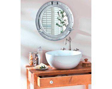 Best Of Home Wandspiegel Bullauge O 44 Cm Silber Wandspiegel Wc