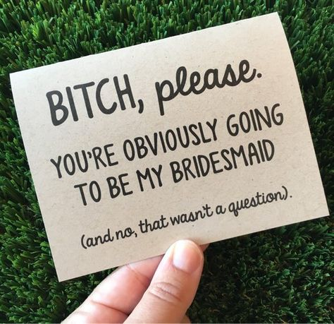 Funny Bridesmaid Proposal Card for Maid of Honor / Be my bridesmaid proposal Car. Wedding , Funny Bridesmaid Proposal Card for Maid of Honor / Be my bridesmaid proposal Car. Funny Bridesmaid Proposal Card for Maid of Honor / Be my bridesmai. Bridesmaid Proposal Cards, Wedding Proposals, Wedding Cards, Brides Maid Proposal, Wedding Venues, Wedding Parties, Marriage Proposals, Wedding Invitations, Wedding Reception