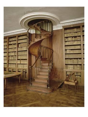 Giclee Print: Petits Appartements : Bibliothèque particulière de l'Empereur. Décor de boiseries et dessus de : 24x18in
