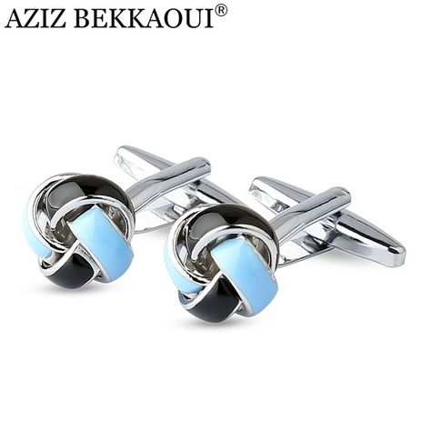 FASKT Two Tone Solid Round Bar Cufflinks for Men Shirt Cufflinks Gold Plated Silver Tone Steel for Wedding Business Graduation Gift