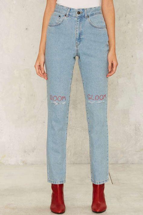 CALÇA JEANS SKINNY ESTILO CLOCHARD Jeans Ousadia