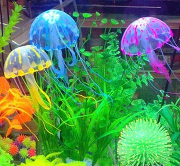 Meduza Swiecaca Ozdoba Do Akwarium Ozdoby 5cm Nowa Aquarium Ornaments Fish Tank Decorations Fish Aquarium Decorations