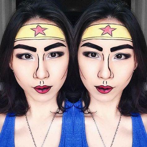 Wonder Woman Makeup - Halloween Costumes You Can Make With Just Makeup - Photos